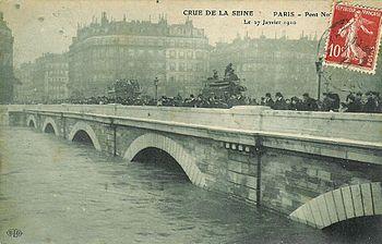 Français : Crue de la Seine à Paris en 1910.
